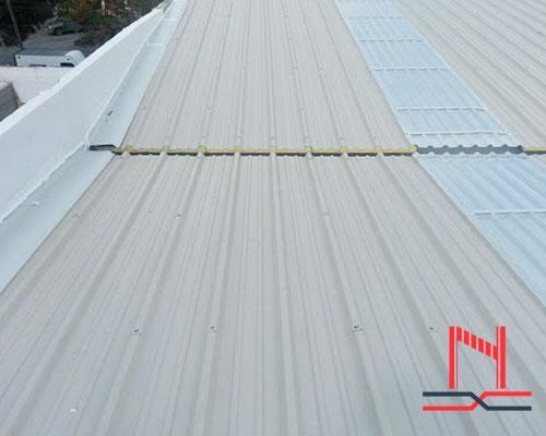 instalación panel para techo galvatecho